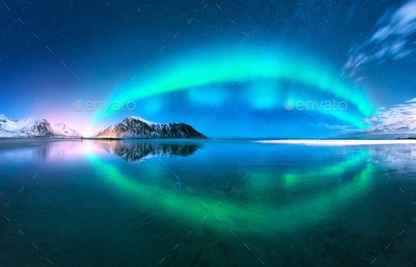 Good Northern Lights. Norway Stock Photo By Den Belitsky Images