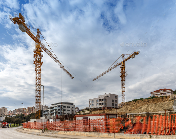 Construction Site Background Stock Photo By Grafvision