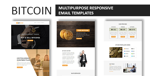 Bitcoin Multipurpose Responsive Email Template With Online - Buy email templates