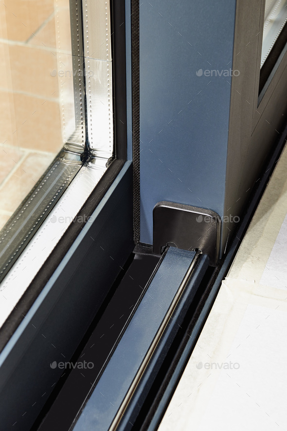 Sliding Glass Door Detail And Rail Embed Stock Photo By Pbombaert