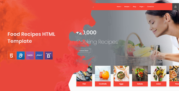 Cook note food recipes html template by nile theme themeforest cook note food recipes html template food retail forumfinder Images