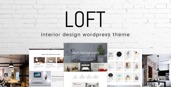Loft   Interior Design WordPress Theme   Portfolio Creative