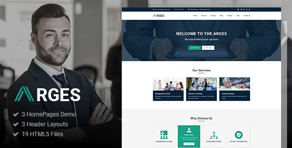 Arges corporate business html5 template by authemes themeforest arges corporate business html5 template business corporate flashek Image collections
