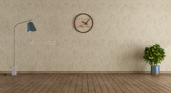 Minimalist Empty Room Stock Photo By Archideaphoto