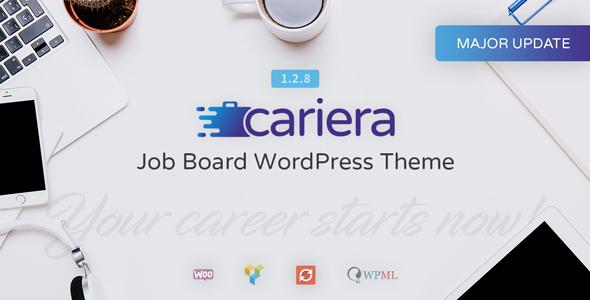 cariera - job board html template free download  Cariera - Job Board WordPress Theme by gnodesign | ThemeForest