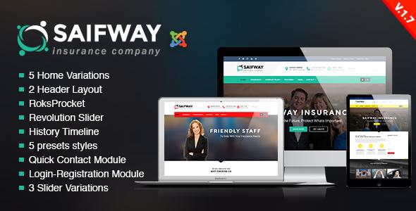 joomla insurance template free  SaifWay - Responsive Insurance Agency Joomla Template by trippleS ...