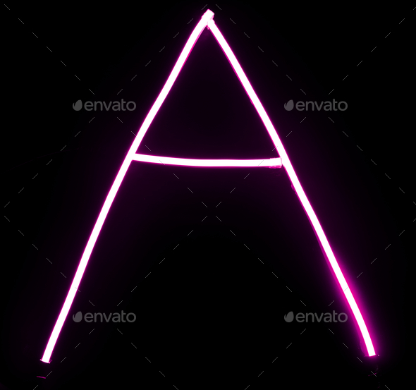 alphabet pink neon lights on black background stock photo by rawpixel