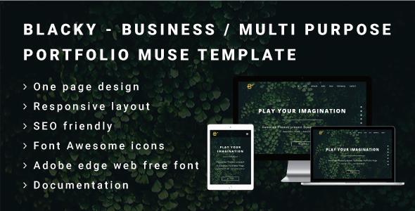 Blacky business or multi purpose portfolio muse template by blacky business or multi purpose portfolio muse template landing muse templates maxwellsz