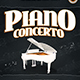 Piano Concerto Flyer Templa-Graphicriver中文最全的素材分享平台