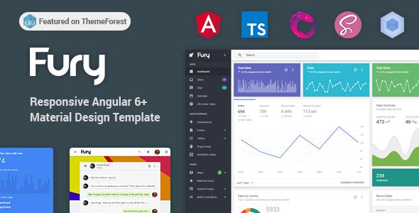 Fury - Angular 6+ Material Design Admin Template by visurel ...