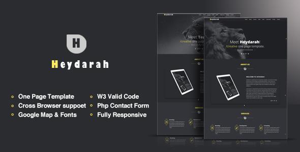 Heydarah - Portfolio Responsive HTML5 Template by KarimEzZat ...