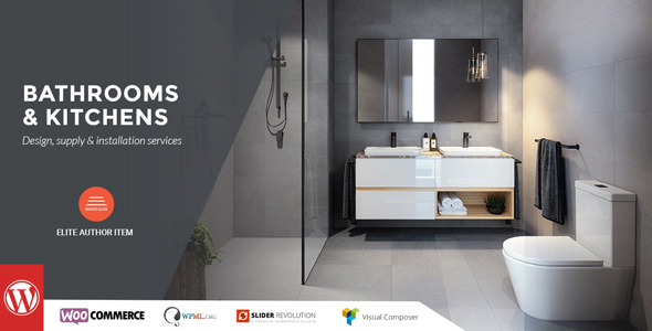 Bathrooms And Kitchens   Design, Supply U0026 Installation By Mymoun |  ThemeForest