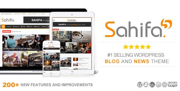 Sahifa - Responsive WordPress News / Magazine / Blog Theme by TieLabs
