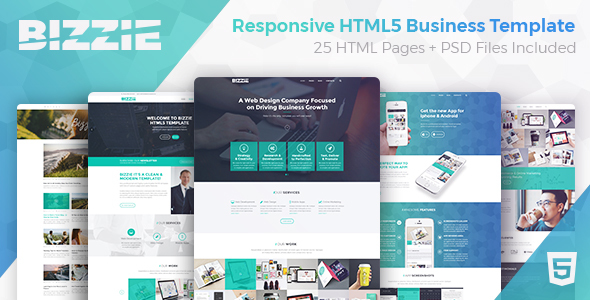 Bizzie responsive business html5 template by wiselythemes bizzie responsive business html5 template business corporate flashek Choice Image
