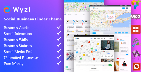 Wyzi Business Finder And Service Provider Booking Wordpress Social