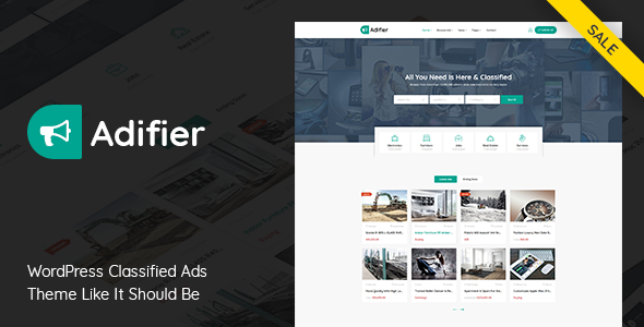 Adifier - Classified Ads WordPress Theme by spoonthemes | ThemeForest