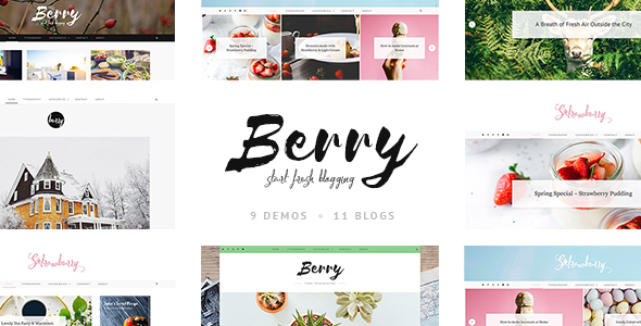 Berry A Fresh Personal Blog And Shop Theme By LoftOcean ThemeForest - Fresh free apple motion template scheme