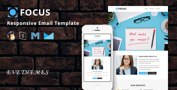 Focus - Responsive Email Template by evethemes   ThemeForest