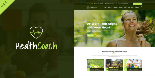 health coach wordpress template  Health Coach - WordPress Theme for Fitness, Health, Personal, Life ...