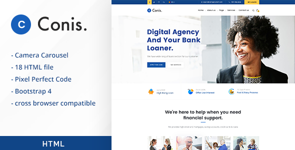 Conis business and finance html template by creativegigs themeforest conis business and finance html template business corporate wajeb Image collections