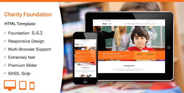 Charity Foundation - HTML Template by WPlook   ThemeForest