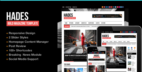 News WordPress | Hades for News by ThemeGoods | ThemeForest