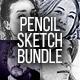 Pencil Sketch Bundle - 4 Ph-Graphicriver中文最全的素材分享平台