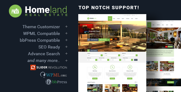 Homeland - Responsive Real Estate Theme for WordPress by codeex ...