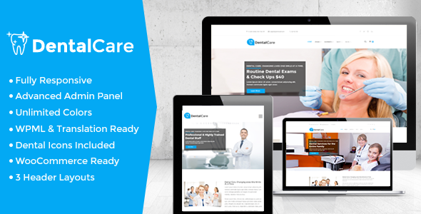Dental Care - Dental & Medical WordPress Theme by strongholdthemes