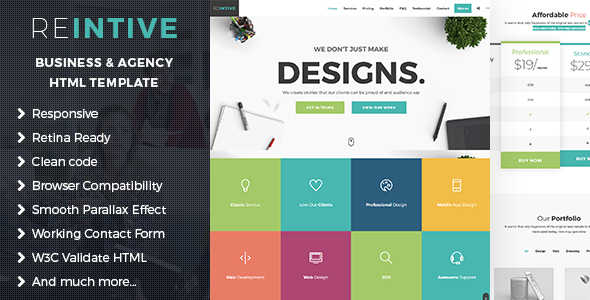 Reintive agency business responsive bootstrap 4 landing page reintive agency business responsive bootstrap 4 landing page template marketing corporate cheaphphosting Images