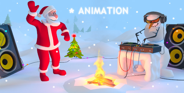 Santa Party 3D Animaton Kit