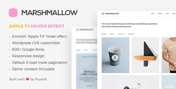 Marshmallow - Simple WordPress Portfolio and Blog Theme by Pryanikov