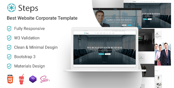 Steps best corporate website templates by bootscore themeforest steps best corporate website templates corporate site templates friedricerecipe