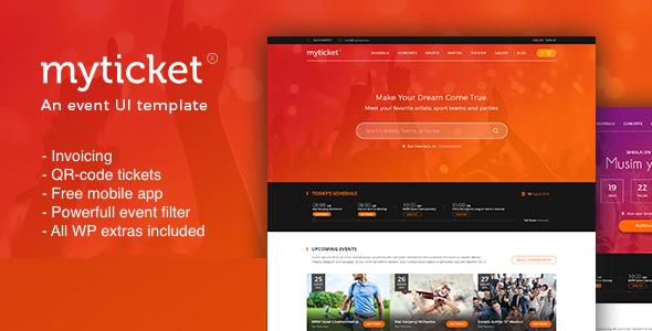 myticket ticket event management system wordpress theme by kenzap