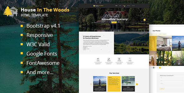 House In The Wood - Tourism and Entertainment HTML Template by ... on shaft house design, lake house design, delta house design, cantilever house design, flat house design, terrace house design, tunnel house design, line house design, hill house design, bridge house design, envelope house design, stone house design, island house design, river house design, wood house design, shade house design, snout house design, rock house design, building house design, home modern house design,