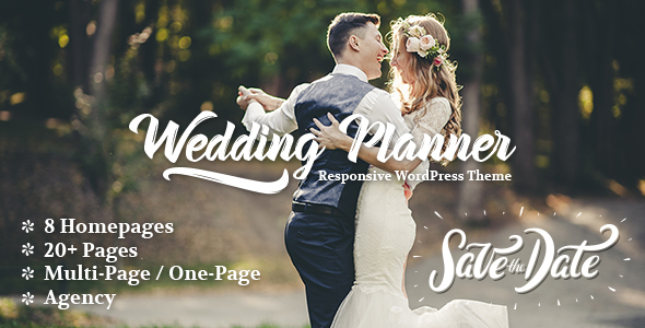 Wedding Planner Responsive Wedding Theme by freevision ThemeForest