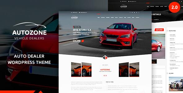 Autozone automotive car dealer corporate wordpress