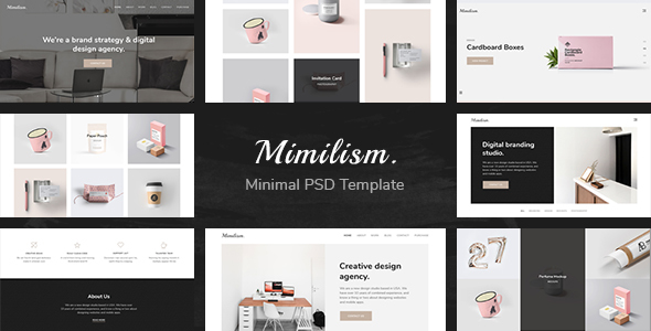 Mimilism - Clean & Minimal Portfolio PSD Template by unvab | ThemeForest