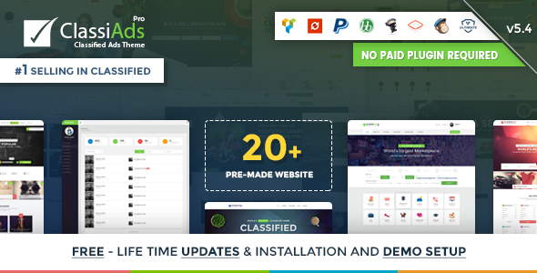 Classiads - Classified Ads WordPress Theme by designinvento ...