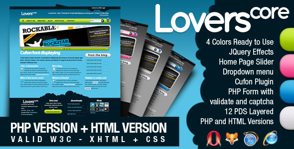 LoversCore PHP + HTML