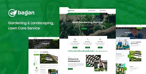 Bagan - Lawn & Garden Landscaping HTML Template by XpeedStudio ...