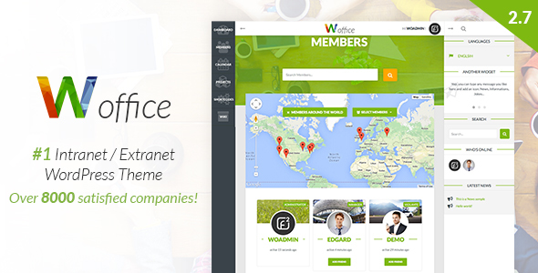 Woffice - Intranet/Extranet WordPress Theme by Alkaweb | ThemeForest
