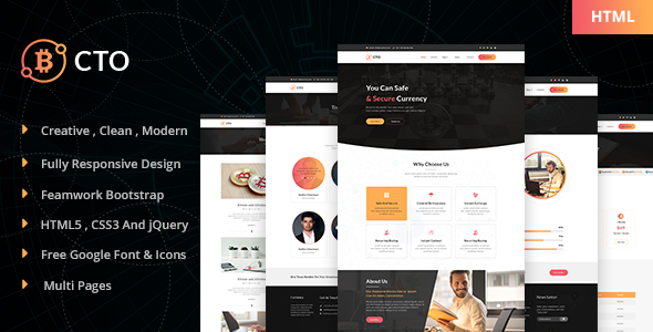 cto bitcoin crypto currency template by dynamicweblab themeforest