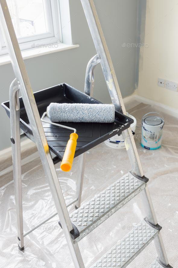 Painting and Decorating Tools Stock Photo by DPimborough | PhotoDune