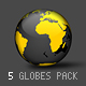 Animated SVG Globe with Markers and Logos - 2