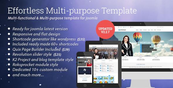 Effortless - Multi-purpose Joomla Template by bdthemes | ThemeForest