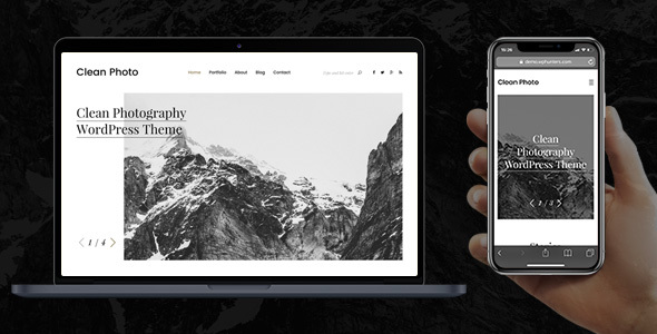 Clean Photo - Photography Portfolio WordPress Theme by wphunters ...