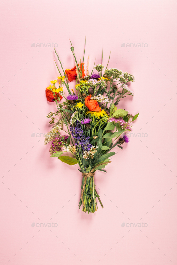 wild flowers bouquet Stock Photo by klenova | PhotoDune