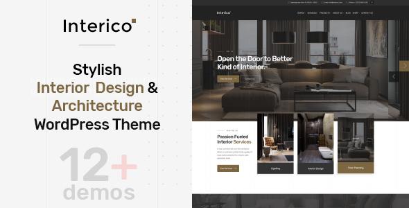 Interico - Stylish Interior Design & Architecture WordPress Theme by ...