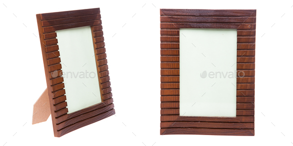 Picture Frame On White Background Studio Isolated Stock Photo By